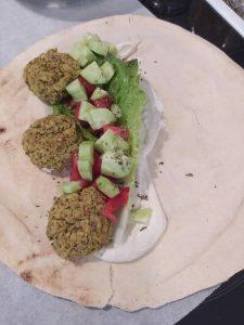 Εthnic, falafel-making-of